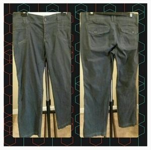 Grey mid-rise Old Navy sz 10 Cotton Casual Pants